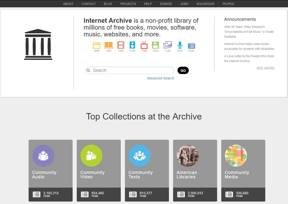 Веб-архив интернета - web.arhive.org - скриншот